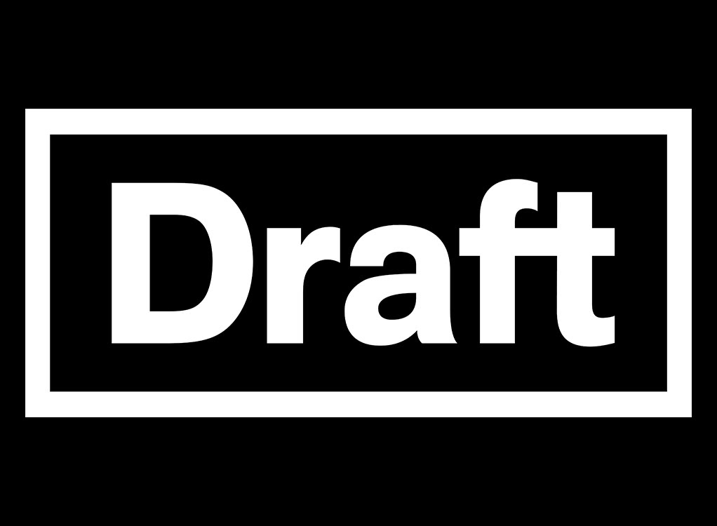 Black and white Draft logo